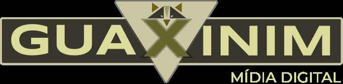 Logotipo Guaxinim Mídia Digital Grande Dark Mode